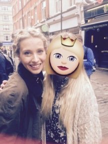 Zoe Doano is always a joy to see as Cosette. Please excuse the massive emoji, the rain ruined my hair... and my face. Sad, sad, sad.